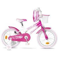 """Rower dziecięcy SANDY 16"""" biało-różowy"""